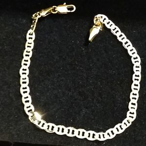 Ladies Fashion 4mm Yellow Gold Gucci Link Bracelet